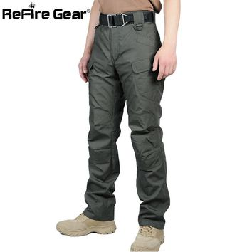 ReFire Gear IX7 II Waterproof Tactical Military Pants Men Cotton Rip-stop SWAT Soldier Combat Trousers Casual Army Cargo Pants