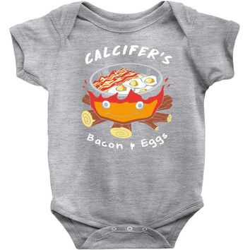 calcifer's bacon and eggs Baby Bodysuit