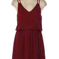 Maroon Double Strap Dress | Bellum&Rogue