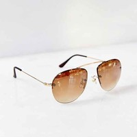 High Road Aviator Sunglasses- Bronze One