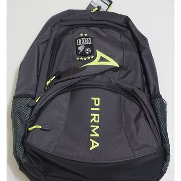 Pirma Leon FC Backpack-Black/Grey/Neon Green