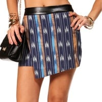 Sale- Tribal Faux Leather Skirt
