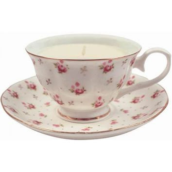 Vintage Tea Cup Candle - PRE-ORDER, SHIPS EARLY MARCH