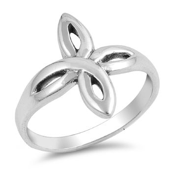 925 Sterling Silver Wiccan Star 20MM Ring