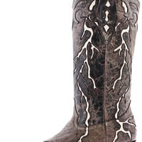 Corral Boots Women's Brown Lightning Cowgirl Boots