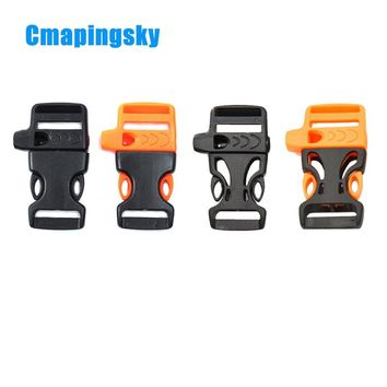 Emergency Plastic Whistle Paracord Buckle,Outdoor Camping Men Whistle Paracord Survival Bracelet Rope Kit