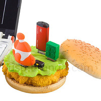 All about USB | USB 3.0, USB Gaming, USB Lifestyle | Brando Workshop : USB Chicken Burger 4-Port Hub