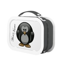 Cute Penguin Lunch Box In Black