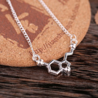 Molecule / Serotonin Molecule Necklace