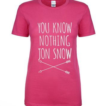 You Know Nothing Jon Snow [Game of Thrones] Women's T-Shirt