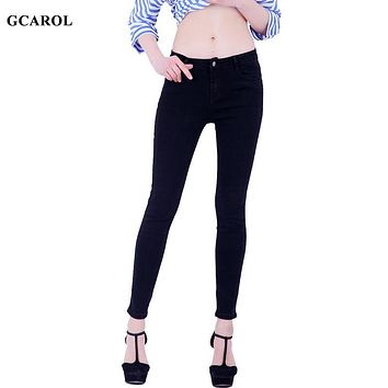 GCAROL Women Pencil Denim Jeans Stretch Sexy Skinny Pants High Quality Ankle Length 4 Colors Jeans For 4 Season