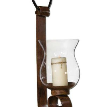 Candle Holder - Antiqued Mahogany Metal
