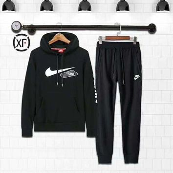 VXL8HQ Nike Fashion Casual Hoodie Sweater Pants Trousers Set Two-Piece G-MLDWX