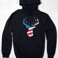 Women's Country Girl® Deer Flag Relaxed Pullover Hoodie