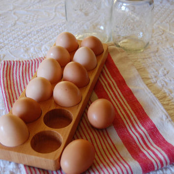 Egg Crate, Wood Egg Holder, Egg Holder, Egg Basket, Egg Carton