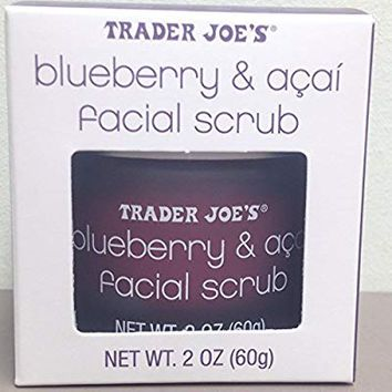 Trader Joe's Blueberry and Acai Facial Scrub, 2 Oz Jar