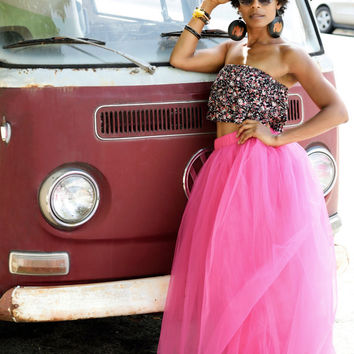 Tulle Skirt | Hot Pink Maxi Tutu Cute Skirt
