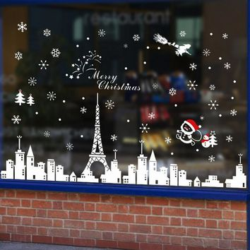 christmas sale wall stickers home decor christmas decorations for home Building Removable