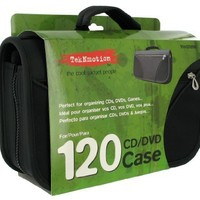 TekNmotion 120 Capacity CD/DVD Carry Case (Black):Amazon:Video Games