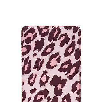 Kate Spade Cheetah Ipad Mini 2/3 Folio Hardcase Pastry Pink ONE