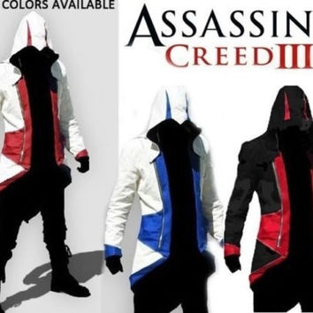 Assassins Creed 3 Conner Kenway Jacket Hoodie Coat Cloak Cosplay Costume = 1931502468