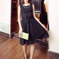 Kim lot of ladies wind wood ear chiffon dress