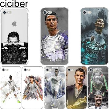 Cristiano Ronaldo CR7 Football Star Soft Silicon Phone Cases Cover for IPhone 6 6S 7 8 Plus 5S SE X Capinha Coque Fundas