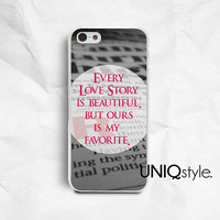 Life quote typo iPhone 4 4S iPhone 5 5S iPhone 5C phone case Samsung galaxy s3 s4 samsung note2 note3 phone case black & white newspaper E75