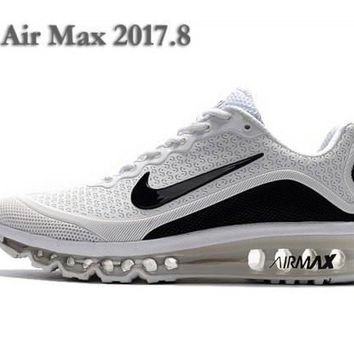 Nike Air Max 2017. 8 KPU White & Black Men's Running Shoes Sneakers