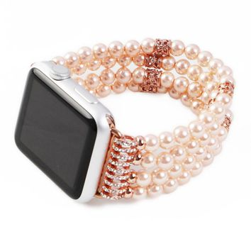 Fashion band for apple watch 38mm 42mm series 1 2 luxury agate design with spiral flexible cord strap for iwatch women men