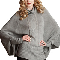 Maternal America Cheryl Batwing Cable Knit Maternity Sweater