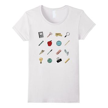 Cute Teachers School Supplies Tee Shirt