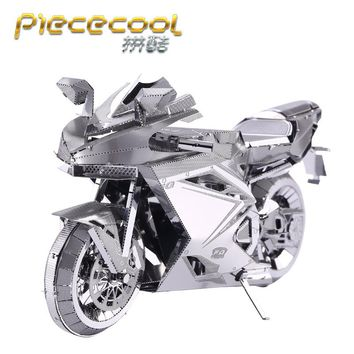PieceCool 3D Metal Puzzle Jigsaws of Motorcycles jigsaw Mini 3D Model Kits from Laser Cut Metal Sheets for Adult Toys Gift