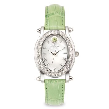 Croton Womens Stainless steel August Birthstone Mother of Pearl Watch