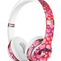 Pink and Red Watercolor Hearts Full-Body Skin Kit for the Beats by Dre Solo 3 Wireless Headphones