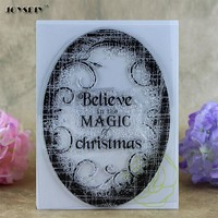 Believe In The Magic of Christmas Scrapbook DIY photo cards account rubber stamp clear stamp transparent stamp   10.0*15.0 CM
