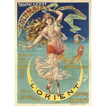 Vintage Showgirl Advertising poster Metal Sign Wall Art 8in x 12in