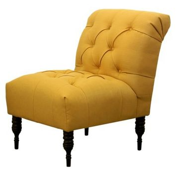 Vaughn Tufted Slipper Chair - French Yellow