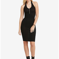Ribbed Zipper Dress