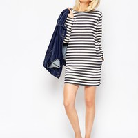 ASOS Sweat Dress In Stripe at asos.com