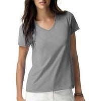 Hanes Women's Plus-Size Lightweight Short Sleeve V-neck - Walmart.com