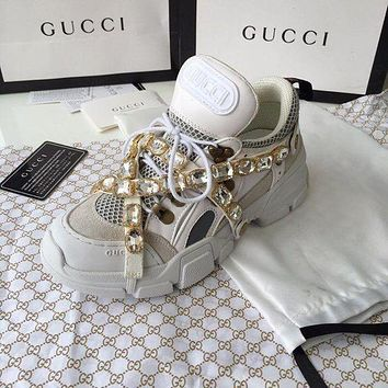 GUCCI Flashtrek sneaker with crystals-3