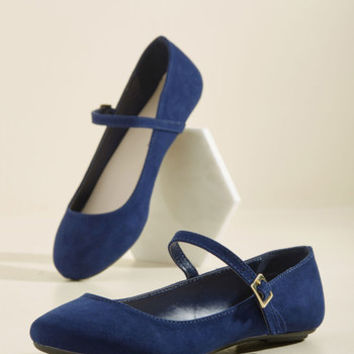 Classy in a Flash Flat in Navy | Mod Retro Vintage Flats | ModCloth.com