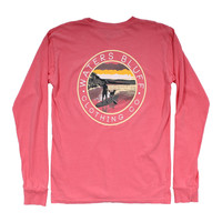 Stand Up Long Sleeve Tee Shirt in Watermelon by Waters Bluff
