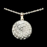 Volleyball - Crystal Necklace