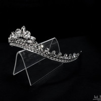 tiaras for wedding ,princess tiara crown ,crystal tiara hand made for order inlaid with SWAROVSKI Crystals and rhinestones,