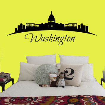 Washington Wall Decals USA Landscape City Skyline Home Interior Design Art Mural Vinyl Decal Sticker Living Room Bedroom Decor kk826
