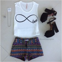 Infinity Love White Graphic Tee
