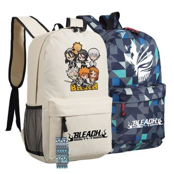 Japan Anime Bleach Mask Cartton Figure Backpack Anime bags Student Back to School Schoolbags  Boys Girls Mochila Gift