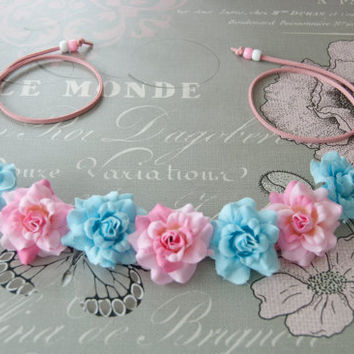 Baby Blue and Pink Swirl Just Rose NightFlo for EDC and Coachella